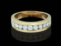 14K Gold 1.00CT Diamonds Men's Band