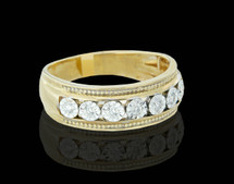 10K Gold 0.24CT Diamonds Men's Band