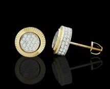 10K Gold 0.55CT Diamond Round Earrings