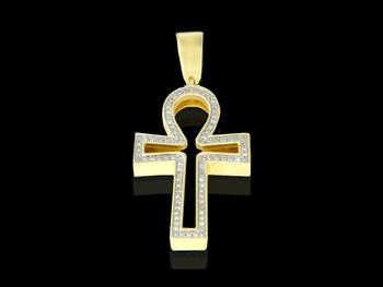 10K Gold 0.21CT Diamond Cross Pendant
