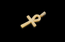 10K Gold 2.30T Diamonds Custom Made Cross Pendant