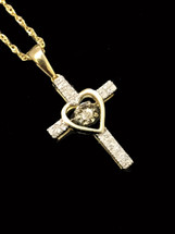 10K gold Women 0.13 ct Diamonds Pendant with 10K gold chain