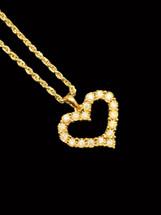 10K Gold 0.21ct Diamonds Heart Pendant