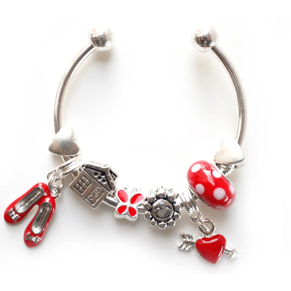 Lauren Hinkley - red charm bangle