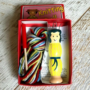 Knitting Nancy Doll in Retro Packaging (Yellow)