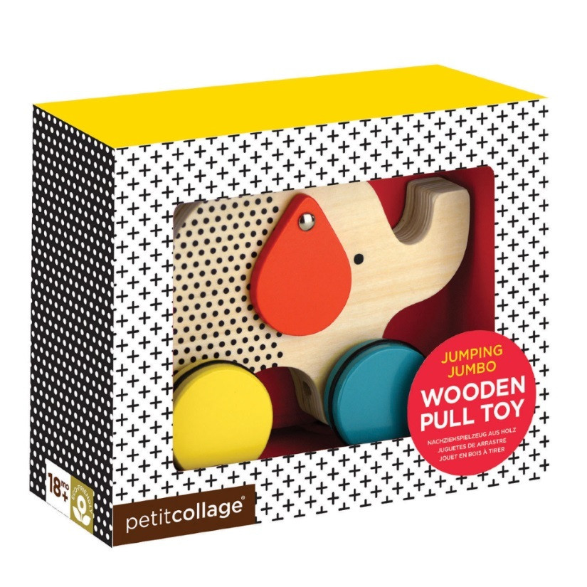 Elephant-Pull-Along-Wooden-Toy-Petit Collage-box