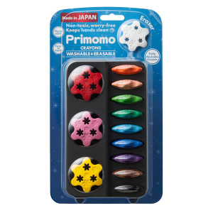 Primomo Non-Toxic Washable Erasable Crayon Set-Flower