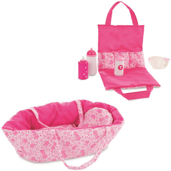 baby-doll-nappy-change-bag-and-fuchsia-carry-cot-egmont-toys