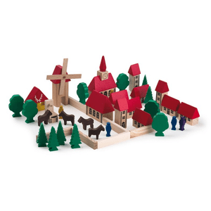 Wooden-Village-Block-Set-42-piece-Egmont-Toys