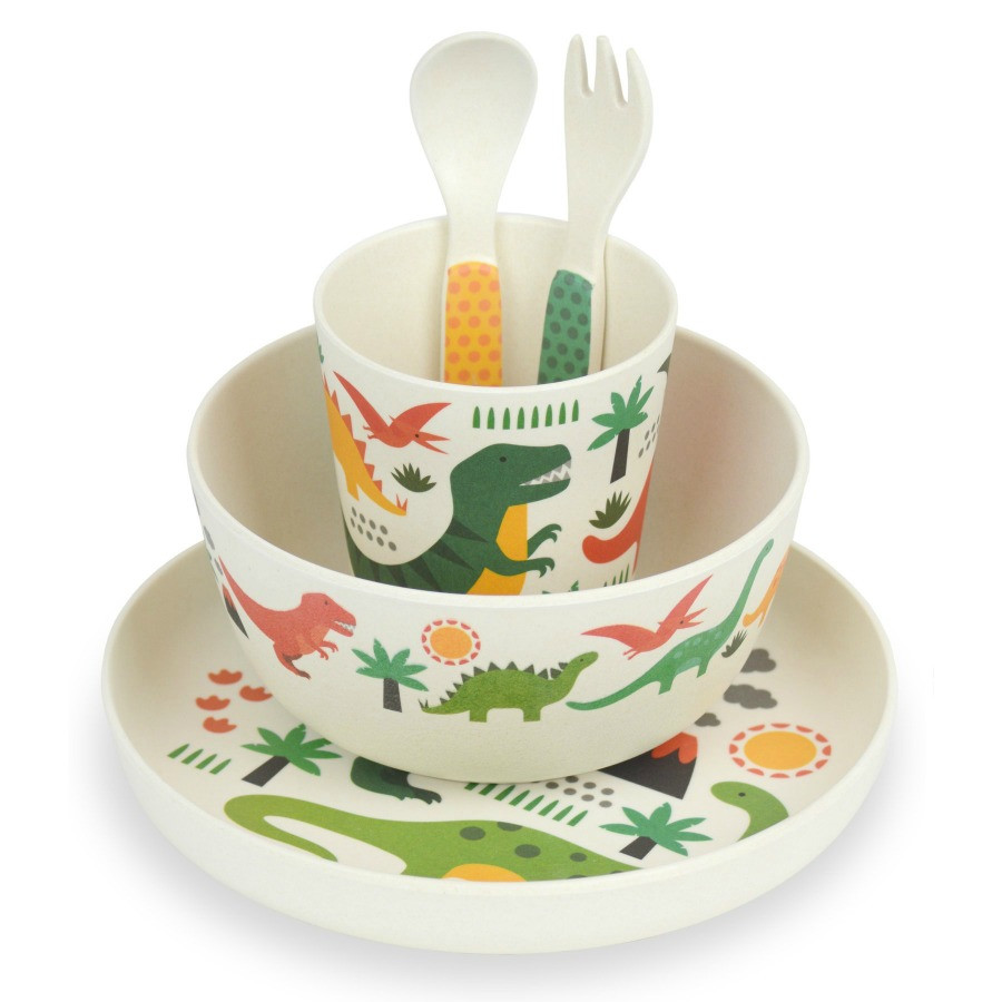 bamboo-childrens-dinosaurs-dinner-set-petit-collage-stacked