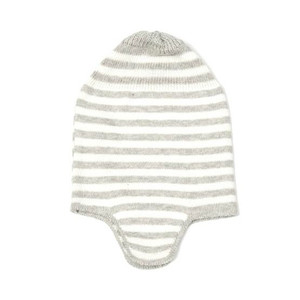 indus-design-cotton-baby-hat-with-ear-flap-ash-ivory