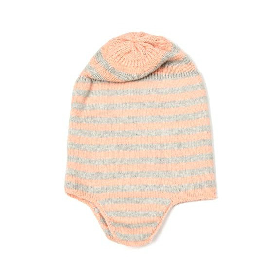 indus-design-cotton-baby-hat-with-ear-flap-ash-peach