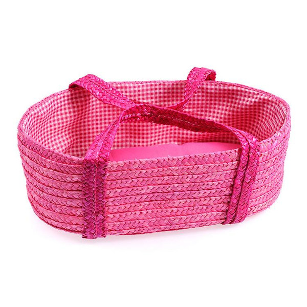 egmont-straw-carrycot-doll-basket-hot-pink