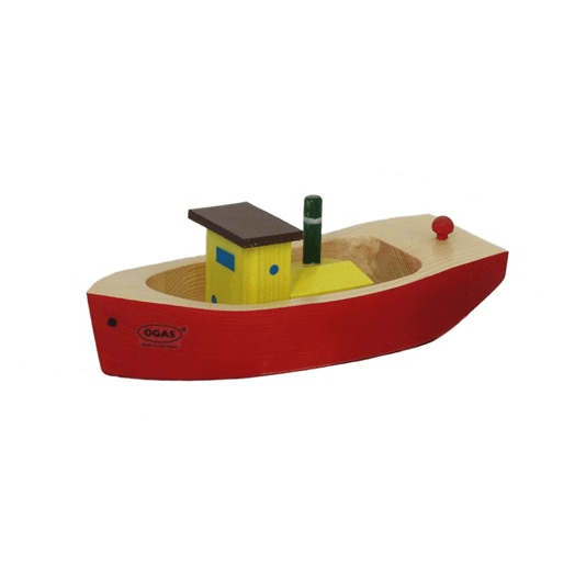 Wooden Toy Tugboat Red OGAS