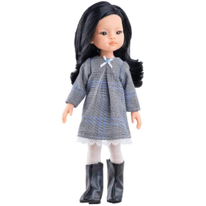 paola-reina-doll-liu-plaid-dress