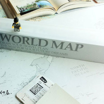 World Map- White By Studio Skinky
