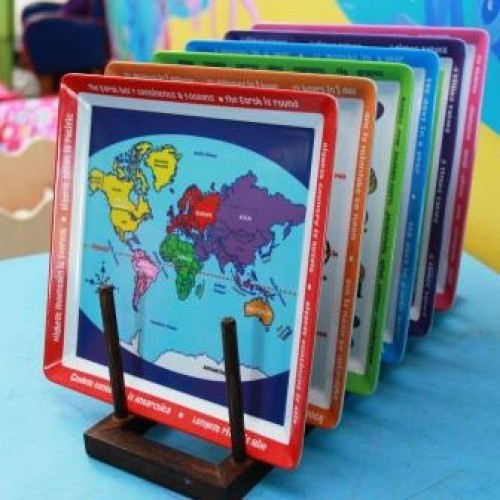 Melamine Map Plate - Education On A Plate