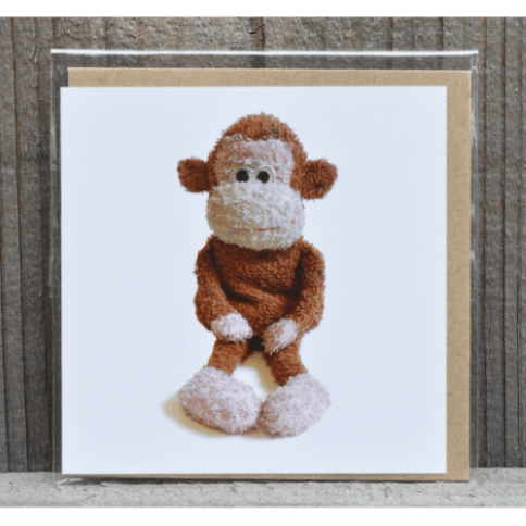 Monkey Greeting Card and Envelope