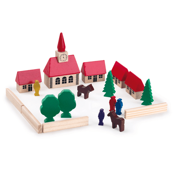 Egmont Wooden Block set - Village with Church