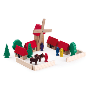 Wooden-Village-Block-Set-windmill-Egmont-Toys