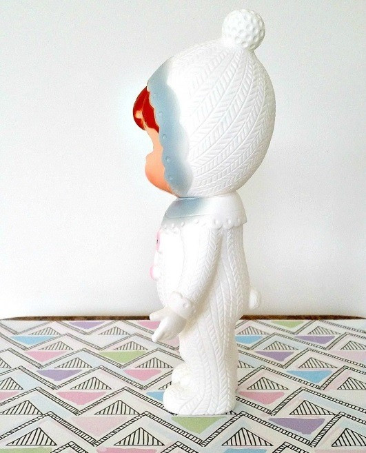 lapin-and-me-doll-snow-baby-grey-pom-pom-side-view