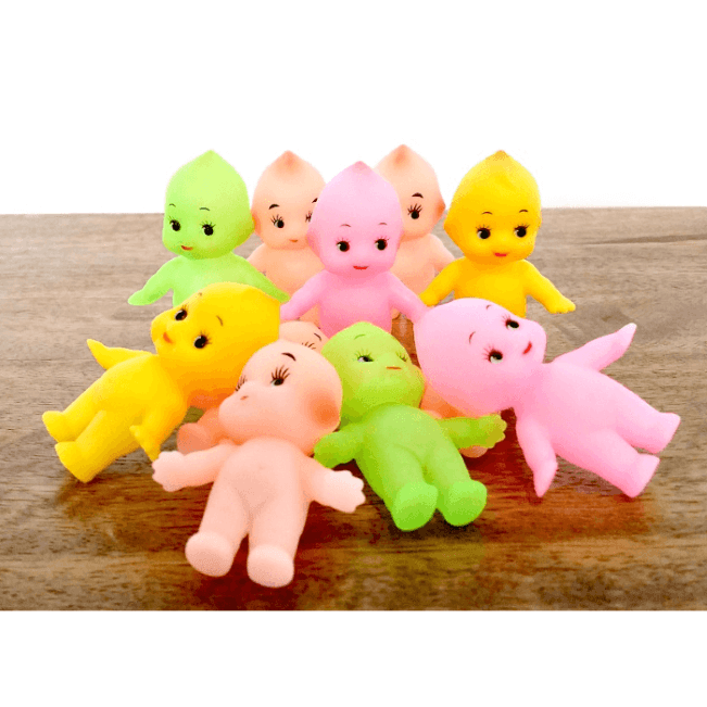 kewpie-dolls-5cm-original-pink-green-yellow