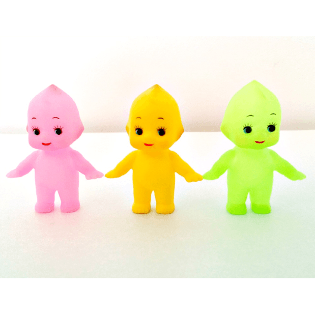 kewpie-dolls-5cm-pink-green-yellow
