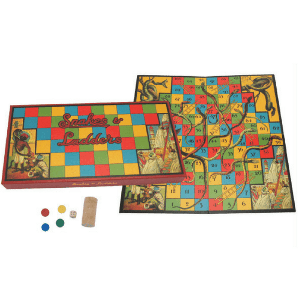 snakes-and-ladders-board-game-retro-design-cover