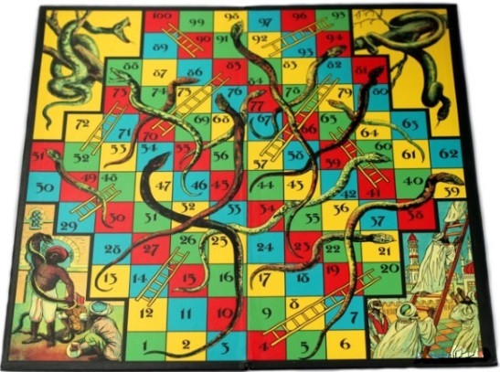 snakes-and-ladders-board-game-retro-design-board