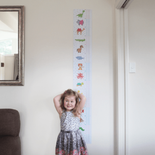 animal-height-grow-chart-with-girl