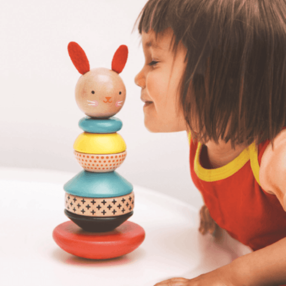 wooden-stacking-toy-rabbit-petit-collage-with-girl