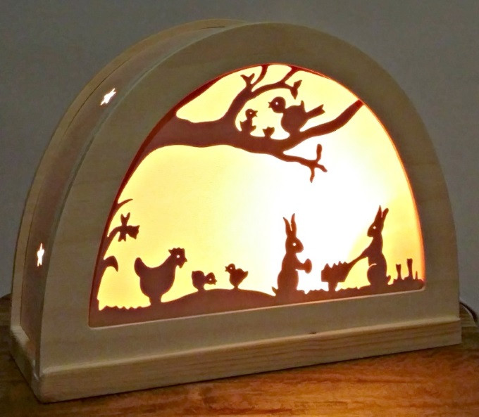 Silhouette-bunny-lamp-lit-yellow