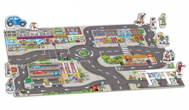 Giant Town Jigsaw & Play Mat by Orchard Toys