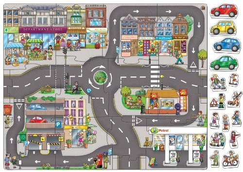 Giant Town Jigsaw / Play Mat