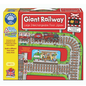 Giant Railway Jigsaw by Orchard Toys