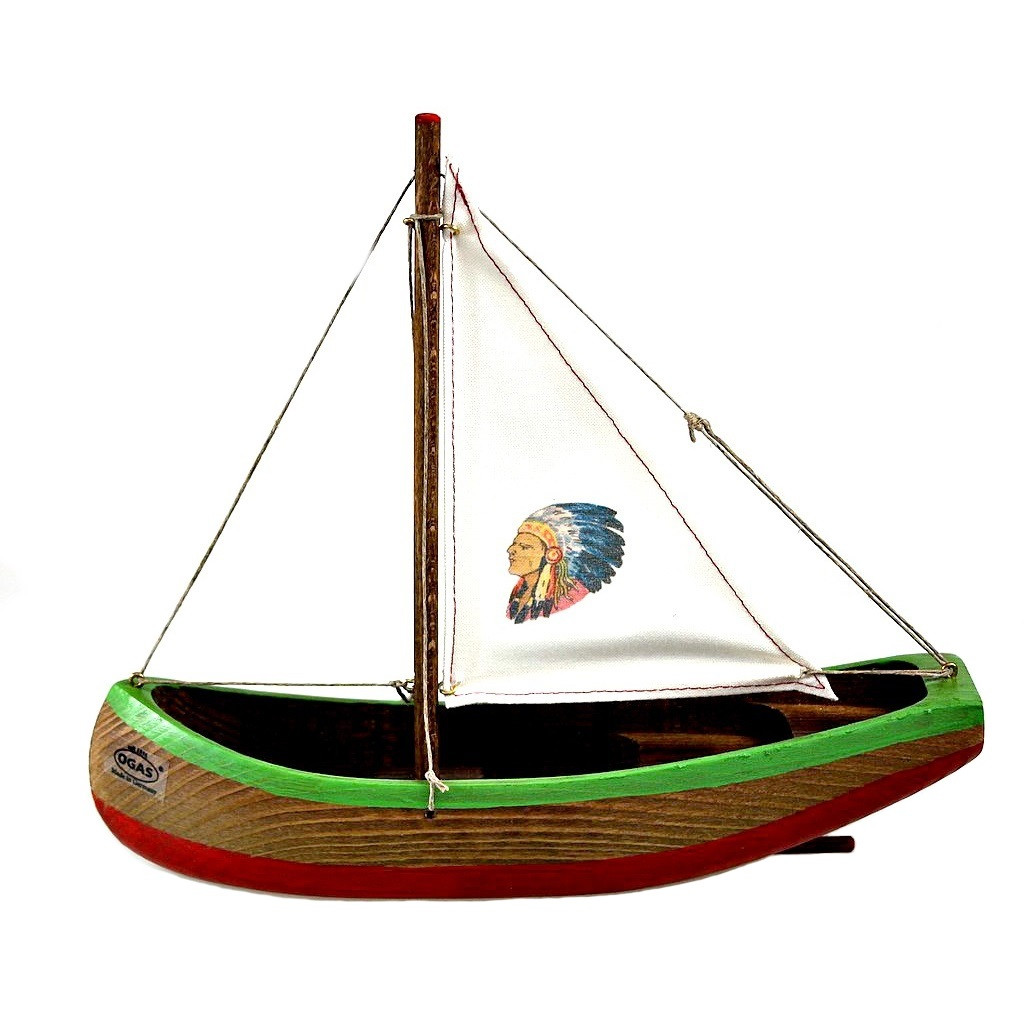 Ogas Indian Wooden Canoe