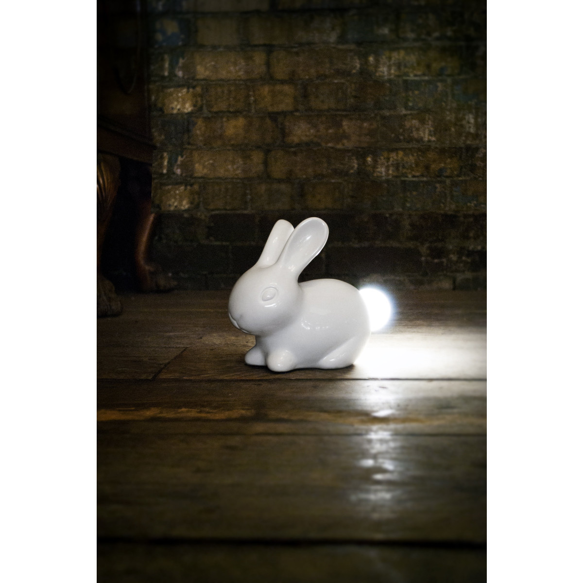 Bunny Porcelain Lamp with LED Light