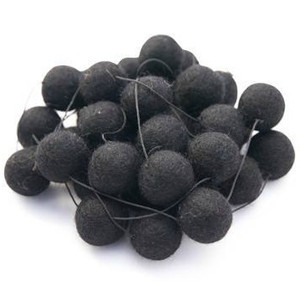 Felt Ball / Pom Pom Garland- Black