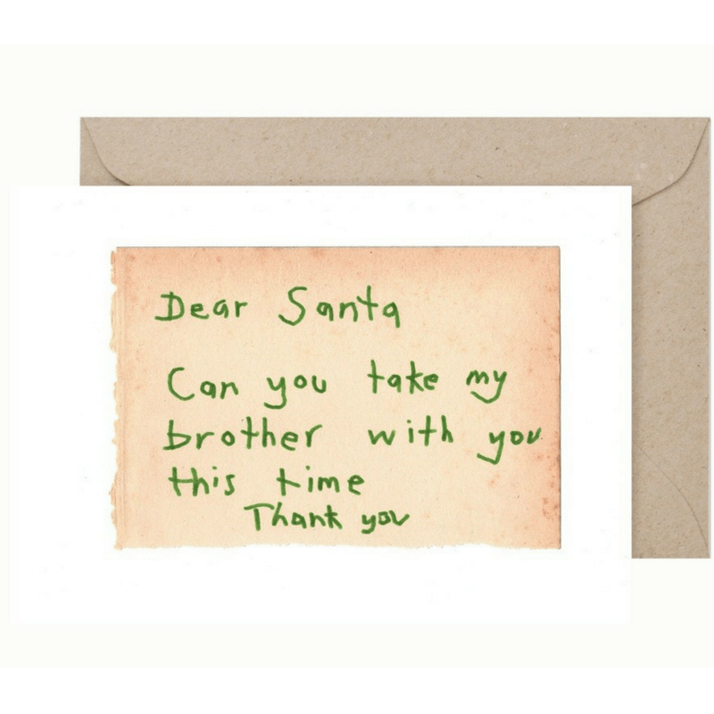 Christmas Card and Envelope 'Brother'