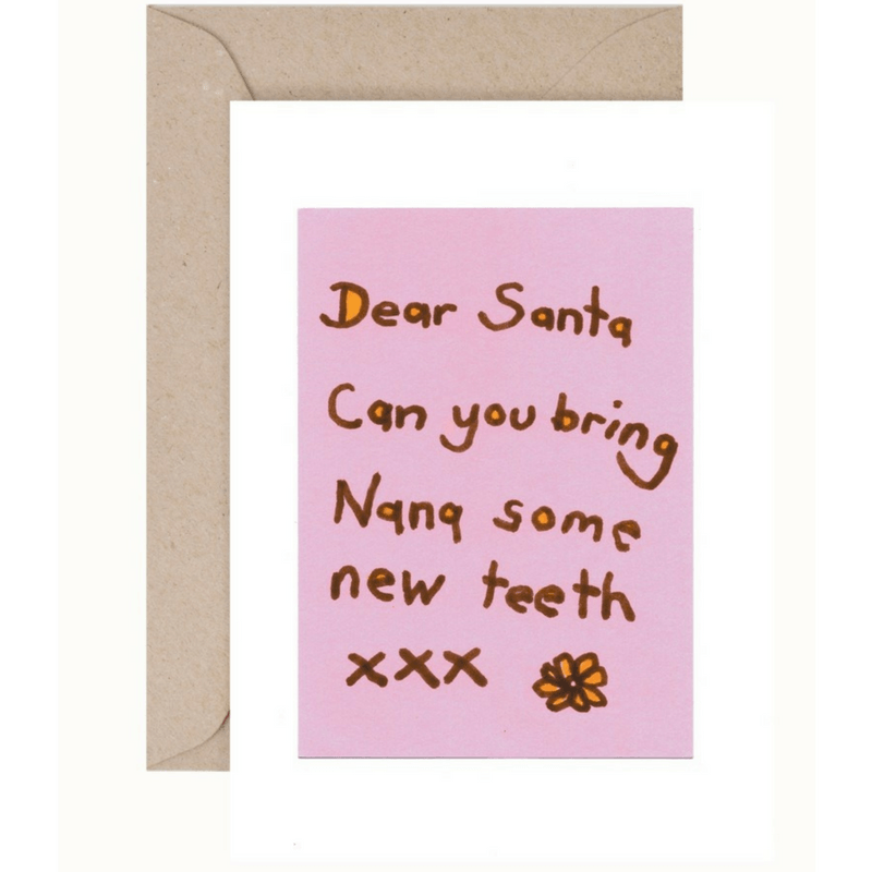Christmas Card and Envelope 'Nana'