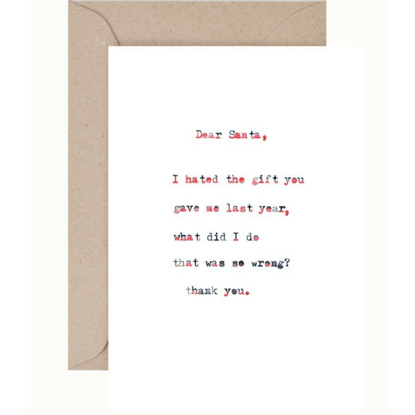 Christmas Card and Envelope 'Dear Santa'