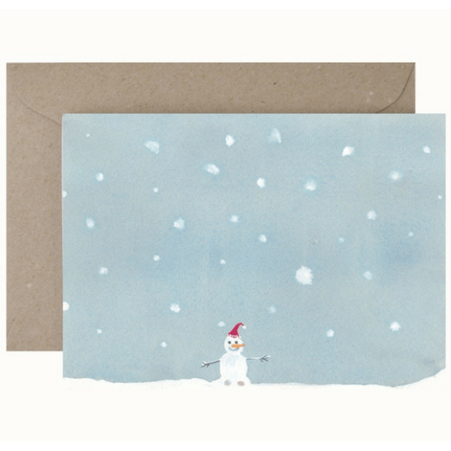 Christmas Card and Envelope 'Snowman'