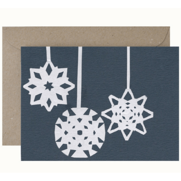 Christmas Card and Envelope 'Christmas Cut Outs'