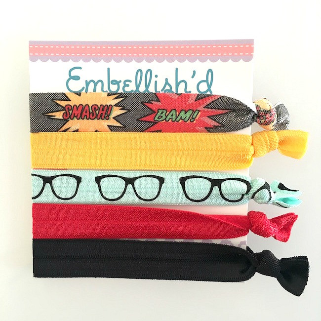 Stretchy Hair Ties- Super Hero