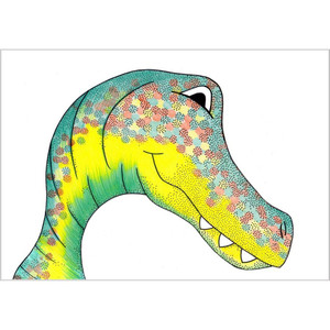 Allosaurus Dinosaur Print - Speckled Freckle / A3