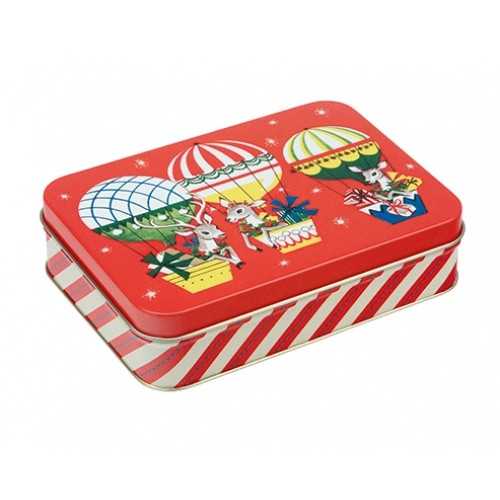 Rectangular Retro Christmas Tin