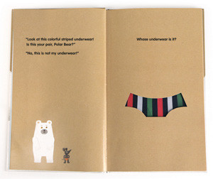 Polar Bear's Underwear Children's Book (Inside)