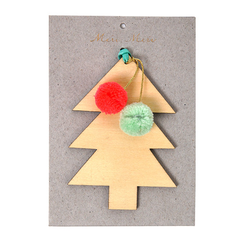 Christmas Tree Ornament / Decoration - Tree With Pom Poms