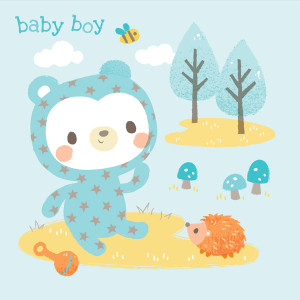 Greeting Card - Baby Boy by Tiger Tribe