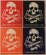 RIDE SKULL AND CRANKS STICKER